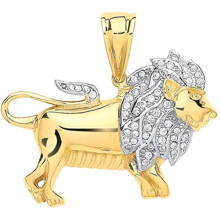Selling: Y/G Cz Lion Pendant