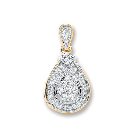 Selling: 9ct Yellow Gold 0.25ct Diamond Drop Pendant