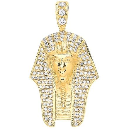 Selling: Y/G Cz King Tutankhamun Pendant