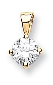 Selling: 18ct Yellow Gold 0.25ct Claw Set Diamond Pendant