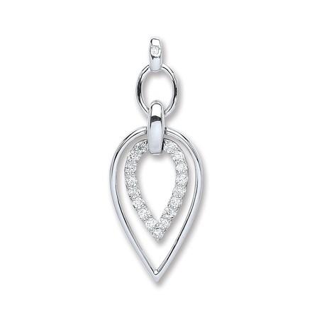Selling: 9ct White Gold 0.25ct Diamond Drop Pendant