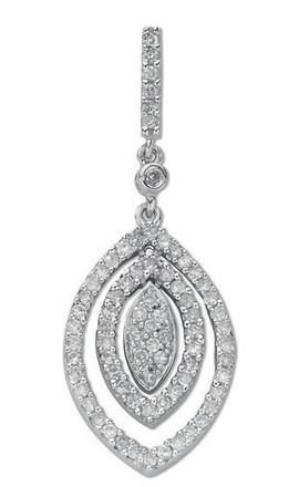 Selling: 9ct White Gold 0.50ct Diamond Drop Pendant