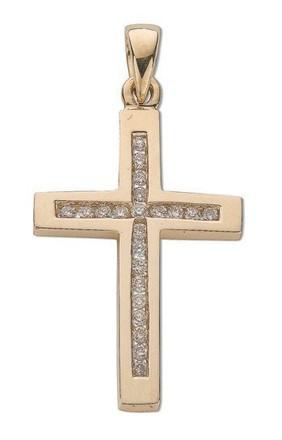 Selling: 9ct Yellow Gold 0.35ct Diamond Cross