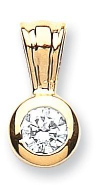 Selling: 18ct Yellow Gold 0.25ct Rubover Set Diamond Pendant