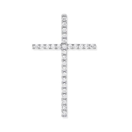 Selling: 18ct White Gold 0.35ctw Diamond Set Cross