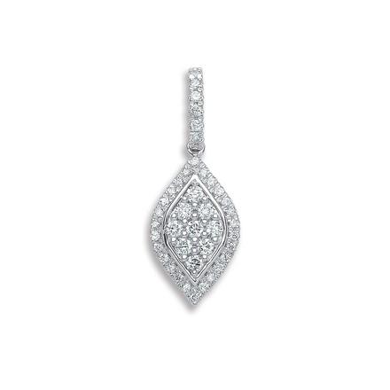 Selling: 18ct White Gold 0.33ct Diamond Drop Pendant