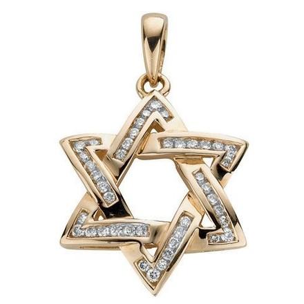 Selling: 9ct Yellow Gold 0.50ct Diamond Star of David Pendant