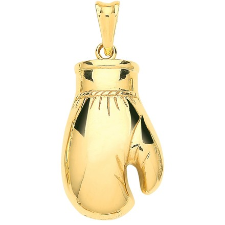 Selling: Y/G Hollow, Plain Large Boxing Glove Pendant