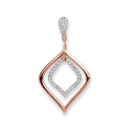 Selling: 18ct Rose Gold 0.25ct Diamond Pendant