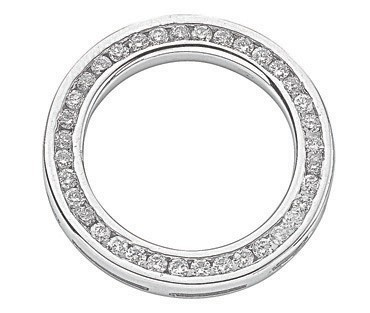 Selling: 18ct White Gold 0.45ct Diamond Circle Pendant