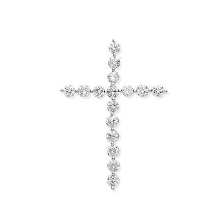 Selling: 18ct White Gold 0.75ct Diamond Cross