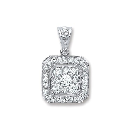 Selling: 18ct White Gold 0.50ct G/Vs Diamond Pendant
