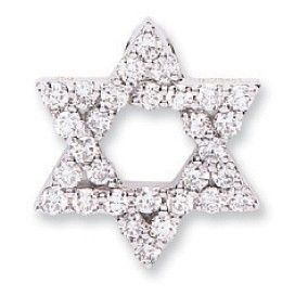 Selling: 18ct White Gold 0.80ct Diamond Star of David Pendant