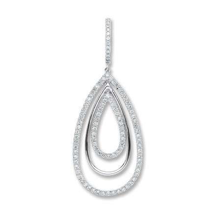Selling: 18ct White Gold 0.50ct Diamond Drop Pendant