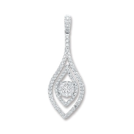 Selling: 18ct White Gold 0.60ct Diamond Drop Pendant
