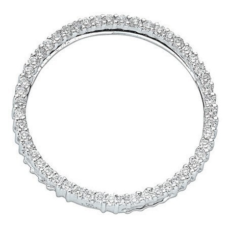 Selling: 18ct White Gold 1.00ct Diamond Circle Pendant