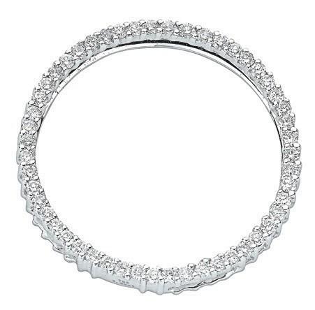18ct White Gold 1.00ct Diamond Circle Pendant