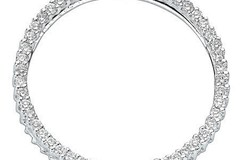 Selling: 18ct White Gold 1.00ct Diamond Circle Pendant