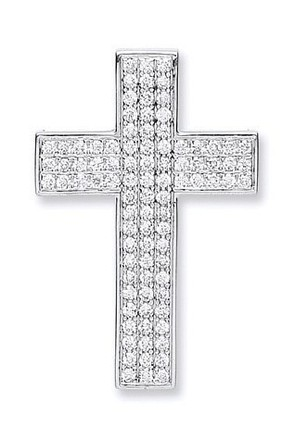 Selling: 18ct White Gold Pave Set 0.80ct Diamond Cross