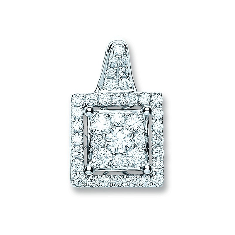 18ct White Gold 0.80ct Diamond Fancy Pendant