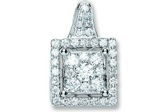 Selling: 18ct White Gold 0.80ct Diamond Fancy Pendant
