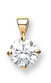 18ct Yellow Gold 0.50ct Claw Set Diamond Pendant