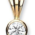 Selling: 18ct Yellow Gold 0.50ct Rubover Set Diamond Pendant
