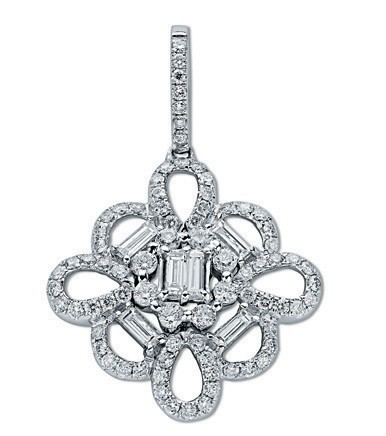 18ct White Gold 1.04ct Diamond Pendant