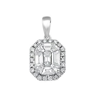 Selling: 18ct White Gold 1.00ct Diamond Drop Pendant
