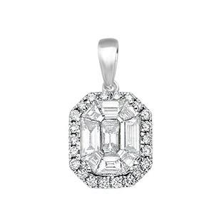 18ct White Gold 1.00ct Diamond Drop Pendant