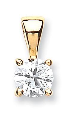 18ct Yellow Gold 0.70ct Claw Set Diamond Pendant