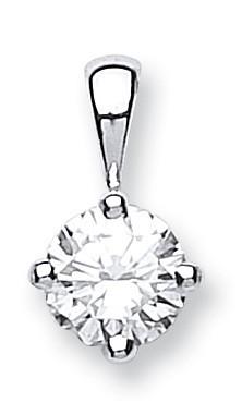 18ct White Gold 0.70ct Diamond Solitaire Pendant