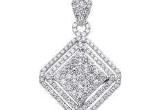 Selling: 18ct White Gold 2.00ct Square Pendant