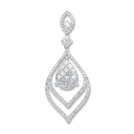 Selling: 18ct White Gold 1.60ct Diamond Drop Pendant