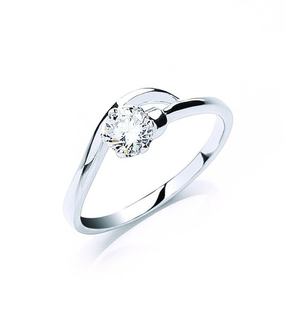 Selling: Silver Claw Set Cz Solitaire Ring