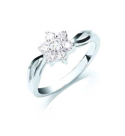 Selling: Silver Cz Cluster Ring