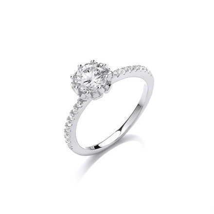 Selling: Silver Solitare Cz  Ring