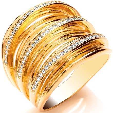 Selling: Silver YG Plated CZ Multi Layer Ring