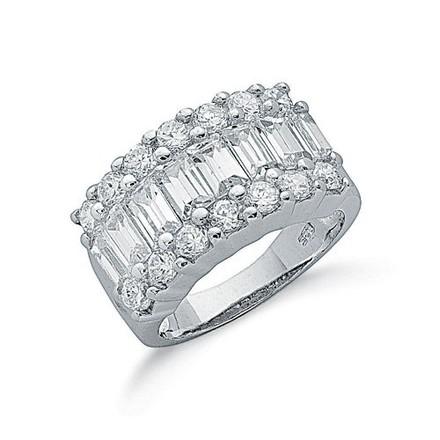 Selling: Silver Fancy Cz Half Eternity Ring