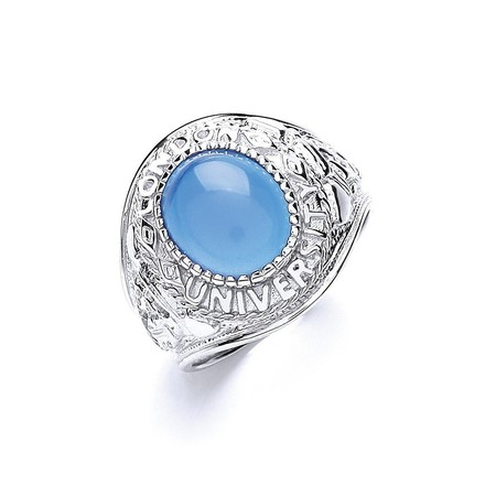 Selling: Silver Gents Blue Stone College Ring