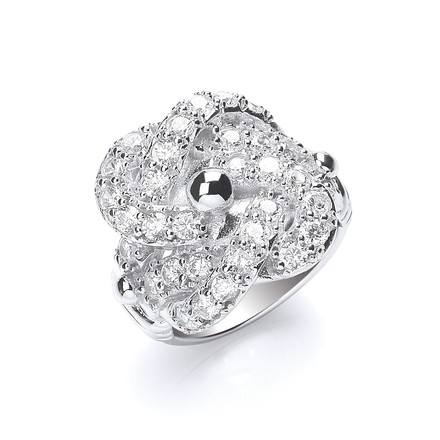 Selling: Silver Cz Knot Gents Ring