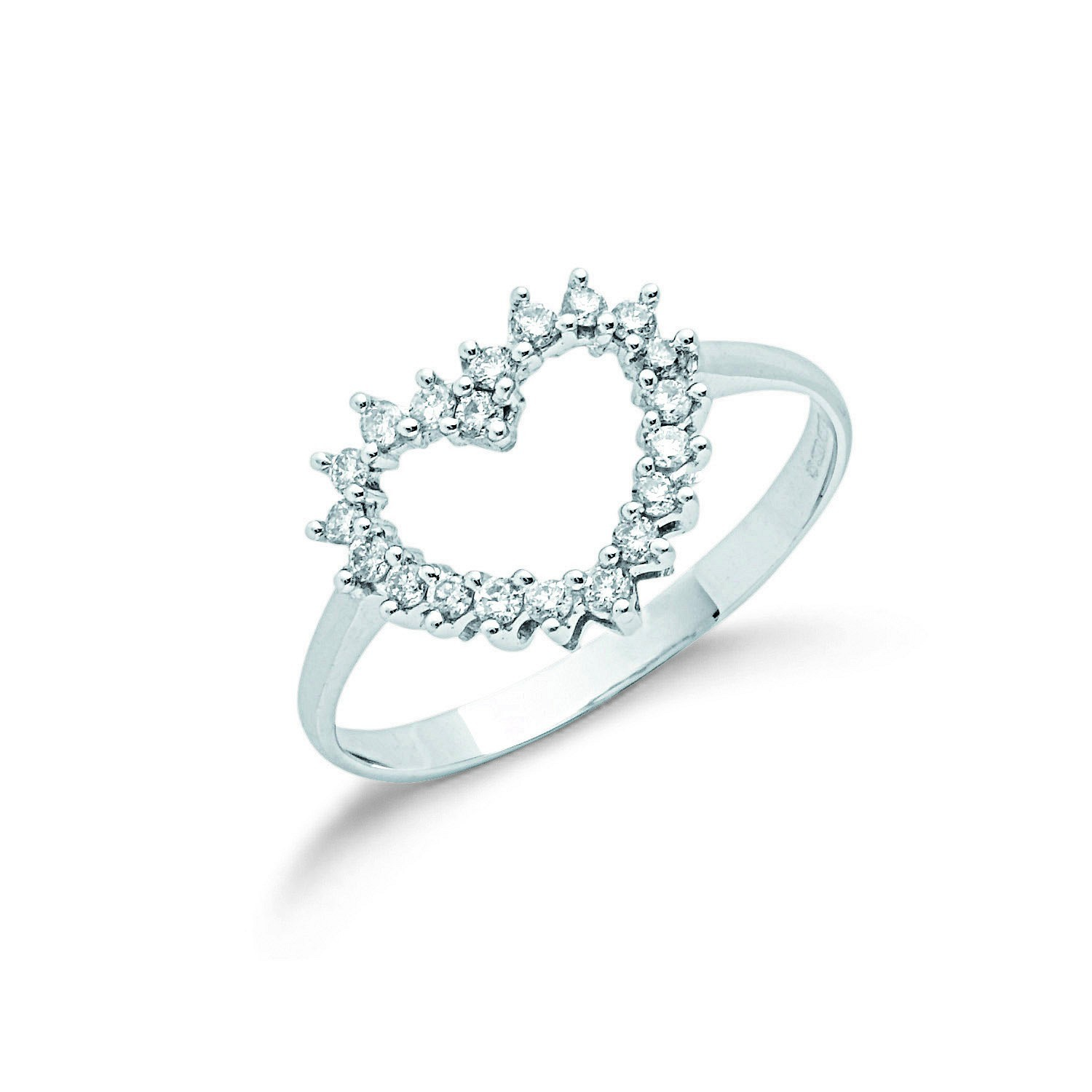 9ct W/G 0.25ct Diamond Heart Ring