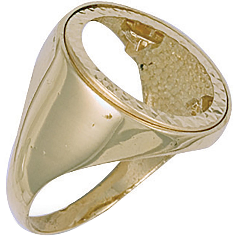 Y/G (Full) Plain Sides Sovereign Ring