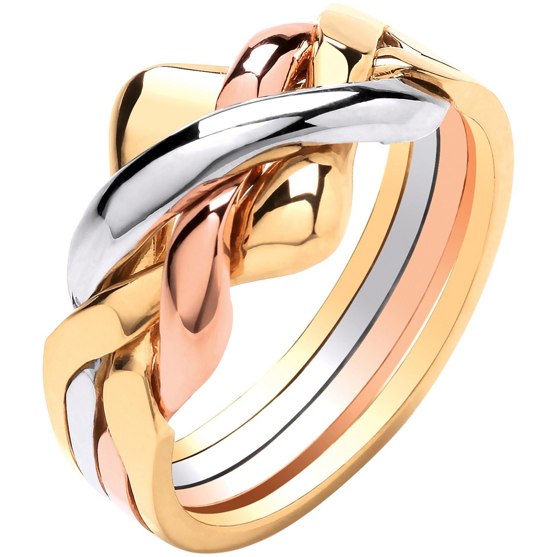 W Y & R/G 4 Piece Puzzle Ring