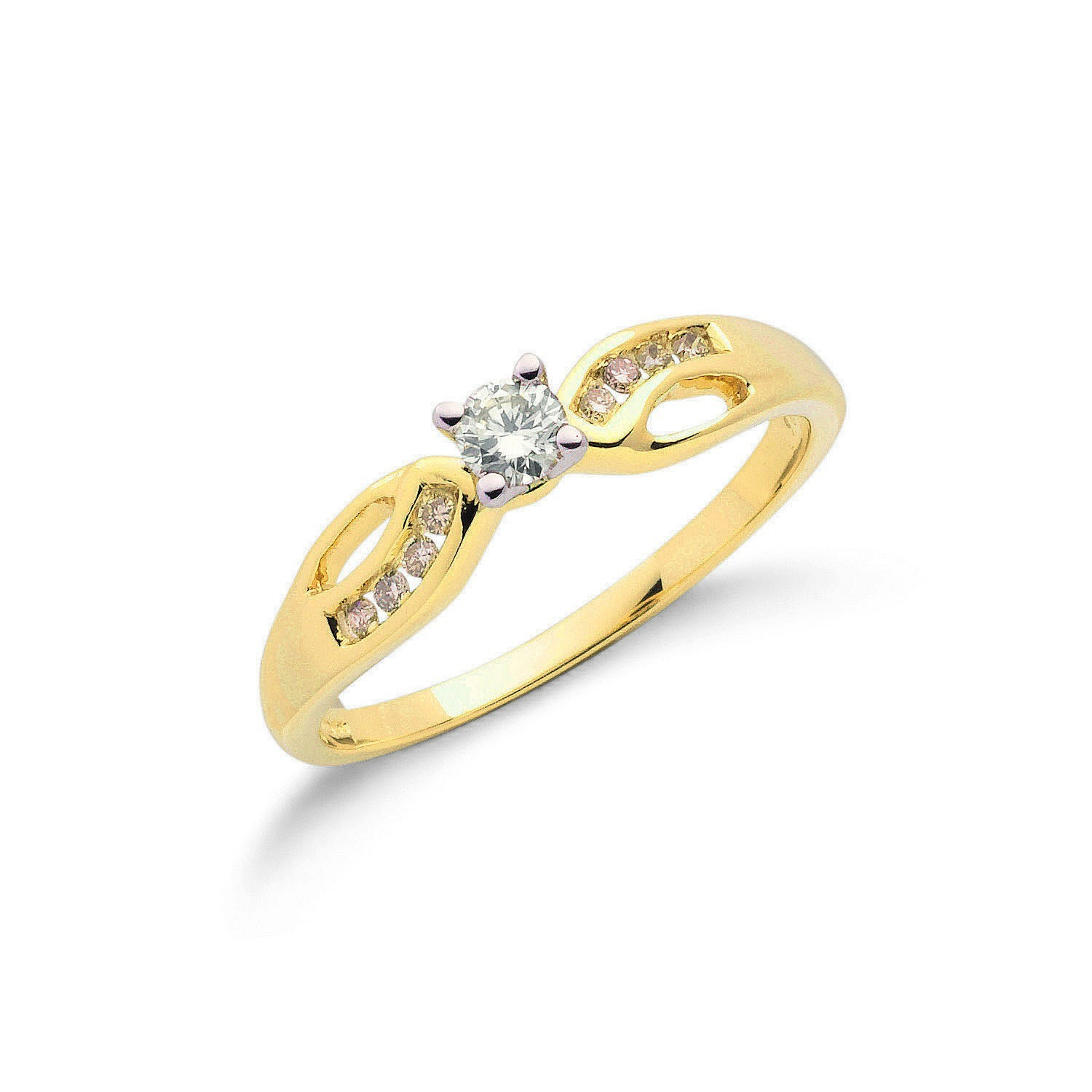 9ct Y/G 0.26ct Diamond Ring