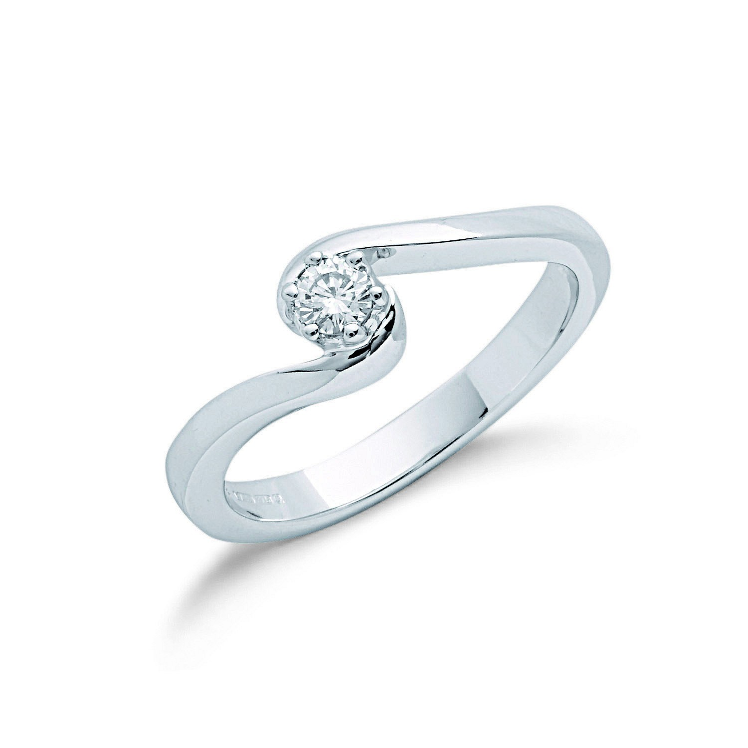 9ct W/G 0.15ct Diamond Engagement Ring