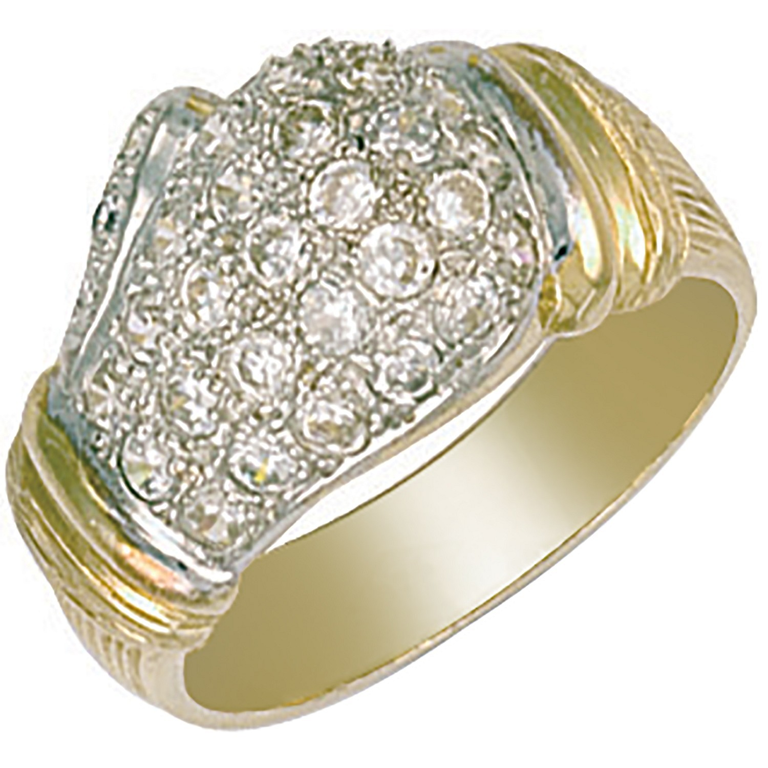 Y/G Cz Boxing Glove Ring