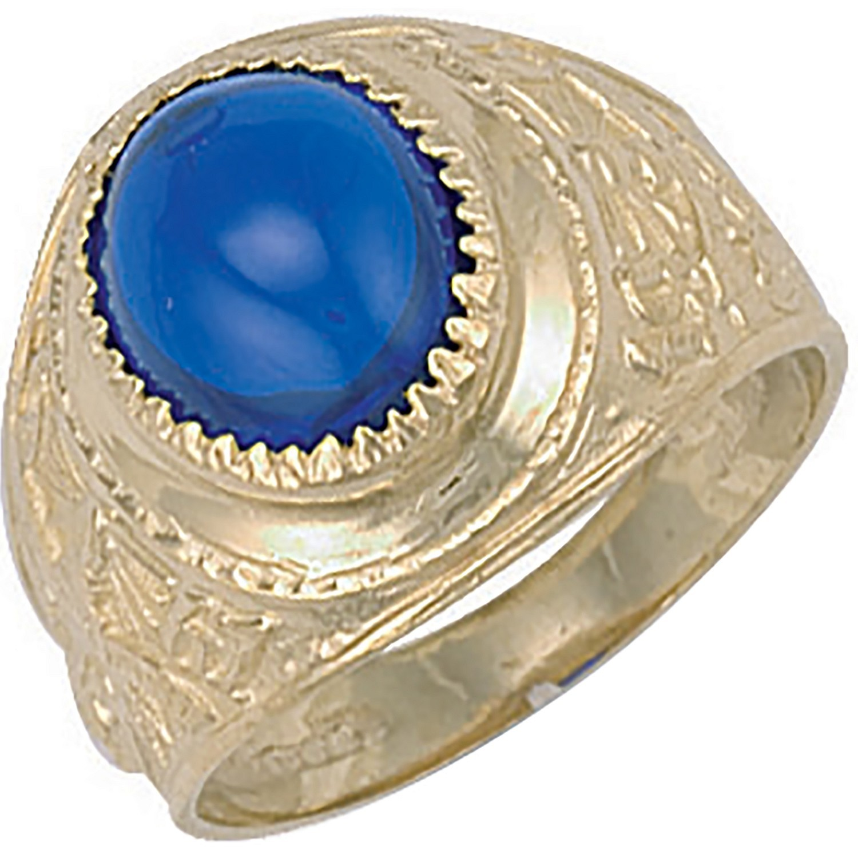 Y/G Blue Cabochon College Ring