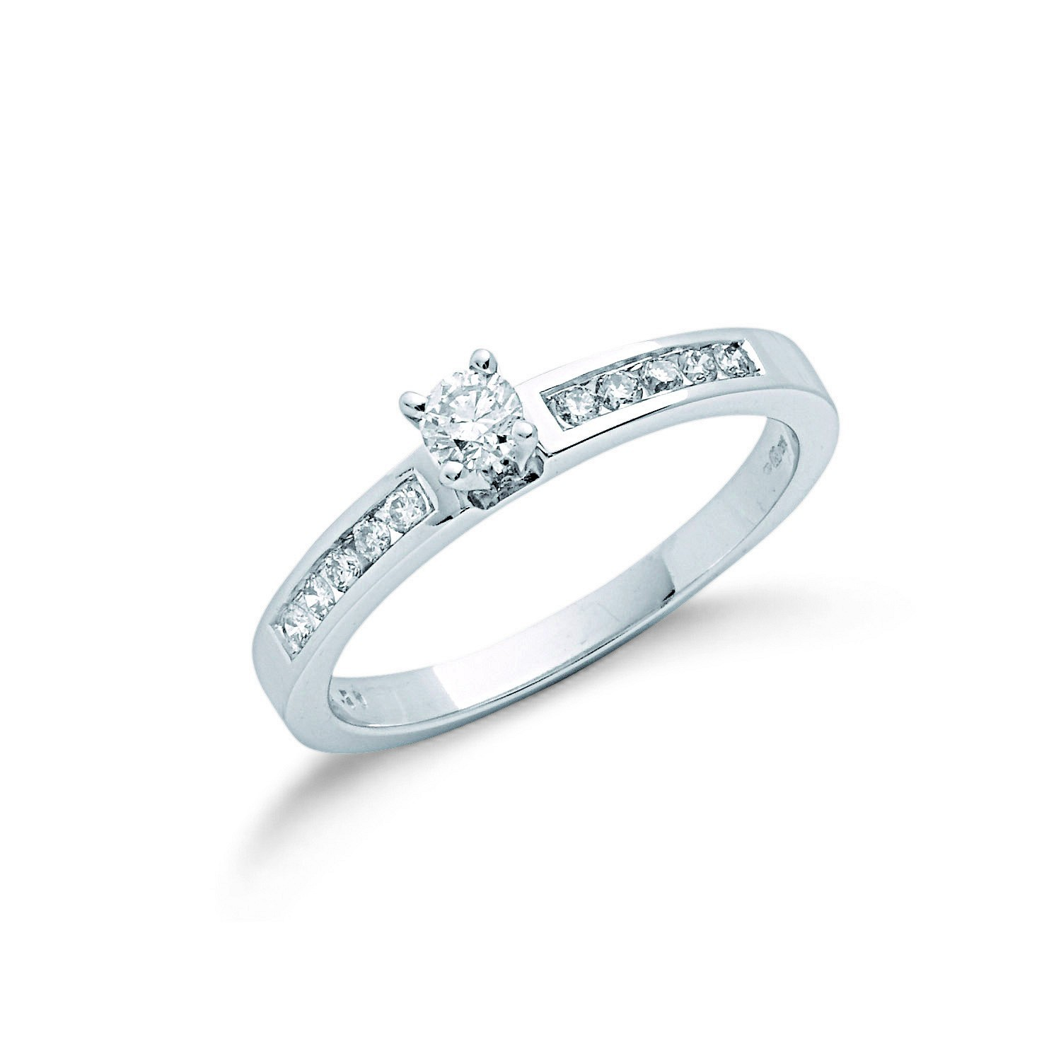 9ct W/G 0.30ct Diamond Engagement Ring