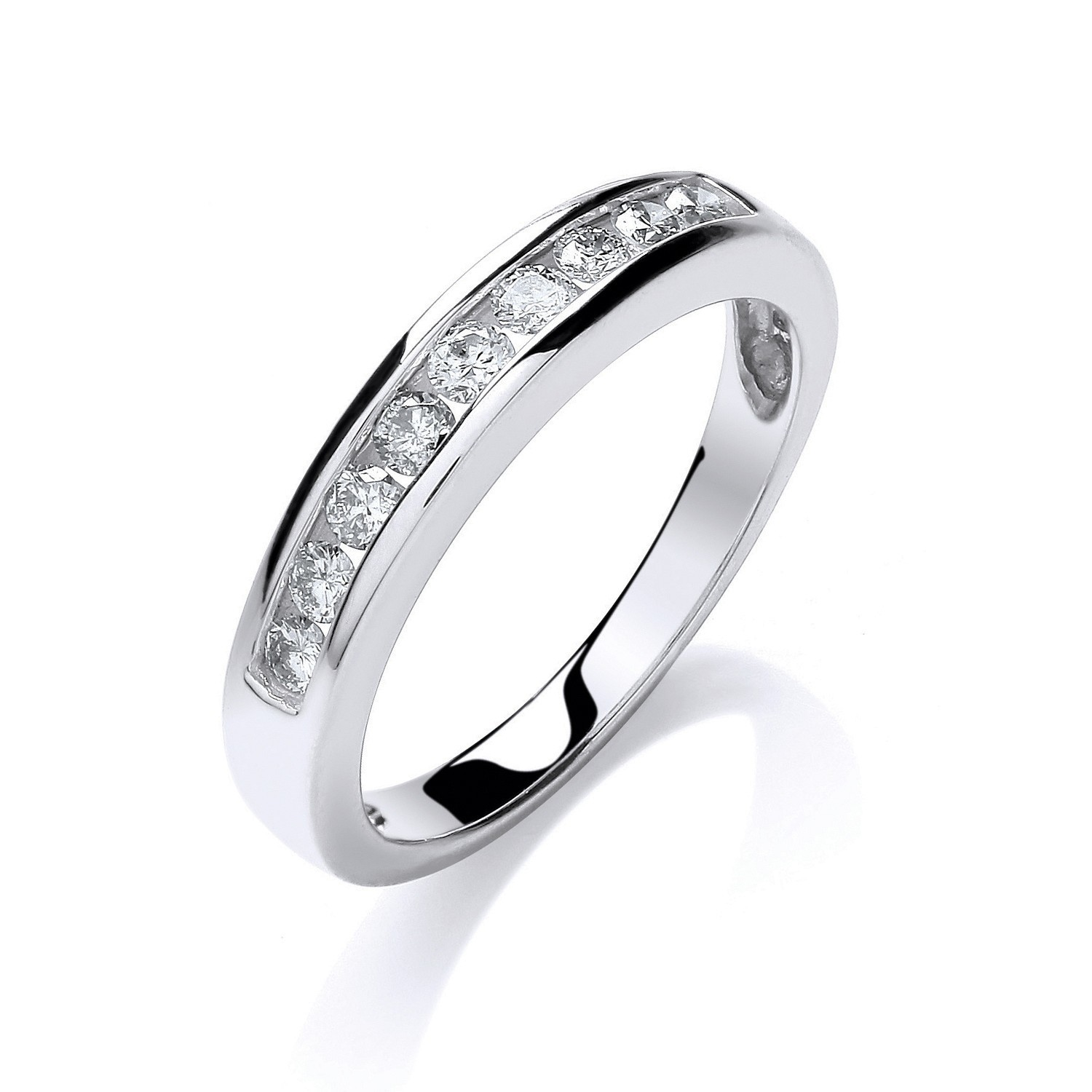 9ct W/G 0.35ct Diamond Eternity Ring